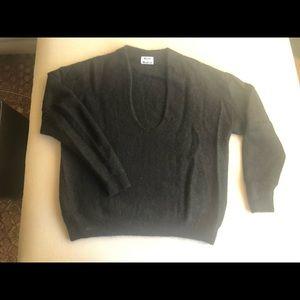 Black Acne deep v sweater